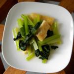 一人暮らしの家飲みメニュー 7/14  小松菜の煮浸し。