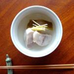 シェアハウスで料理 8/21 塩豚と大根の旨い出汁。