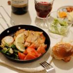 家飲み献立 10/18 ローズマリーチキンに赤ワイン。