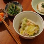 家飲み献立 10/21 豚と白菜のかさね蒸し、ニラだれ温奴など。