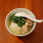 家飲み献立 鶏豆腐でぬる燗を。