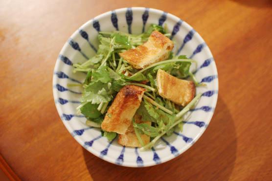 三つ葉と油揚げのサラダ