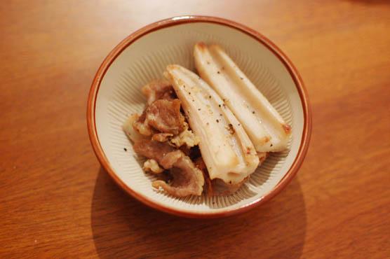 レンコンと豚肉の塩焼き レシピ 141218d4