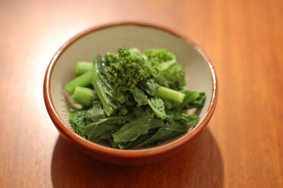 菜の花の辛子和え レシピ 141228d4