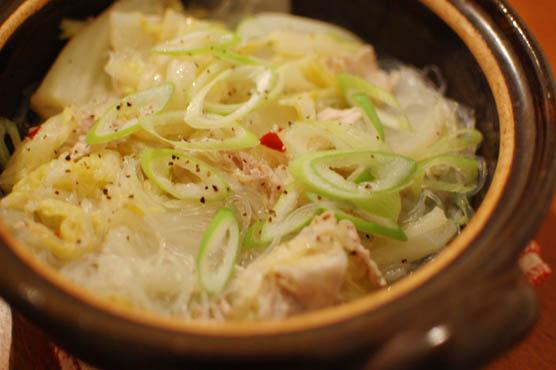 白菜と春雨のうま煮鍋 150113d3