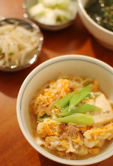 肉豆腐卵とじ 献立