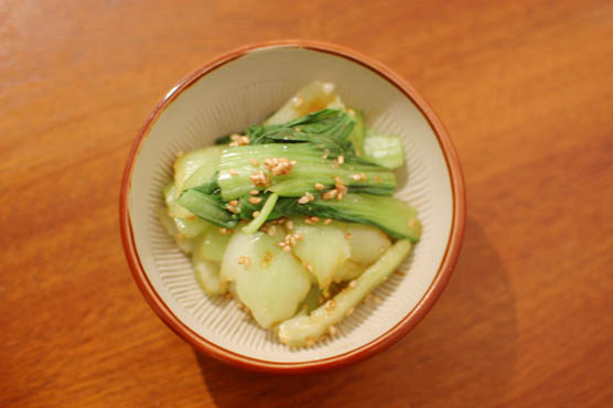 青梗菜の胡麻酢 レシピ