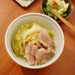 家飲み献立 2/28  塩豚とキャベツの蒸し煮、出し巻き卵。