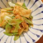 家飲み献立 2/3 春雨入り白菜とツナのあっさり煮、油揚げと葱のしょうが炒め。