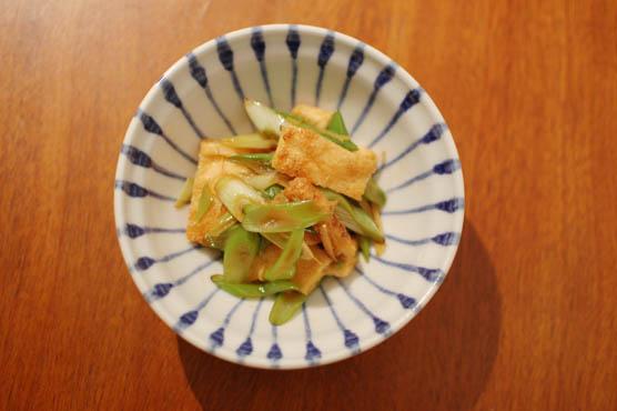 油揚げと葱のしょうが炒め レシピ