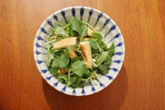 三つ葉と油揚げのサラダ レシピ