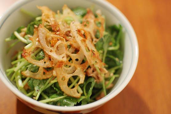 豆腐と三つ葉、レンコン、ツナのサラダ レシピ
