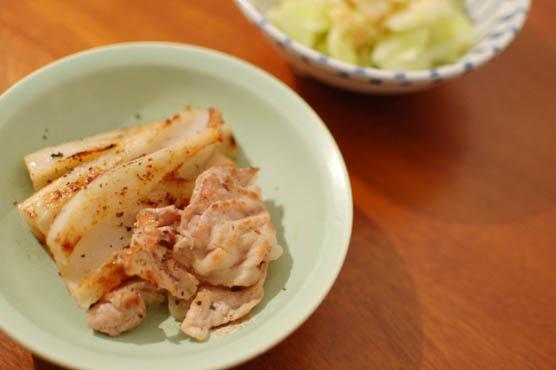 レンコンと豚肉の塩焼き晩酌レシピ