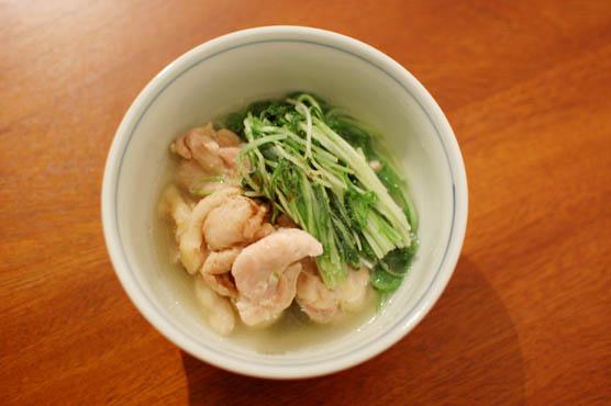 鶏もも肉と水菜の酒蒸し レシピ