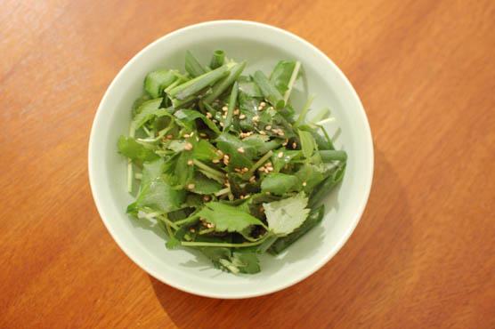 三つ葉と葱のサラダ レシピ