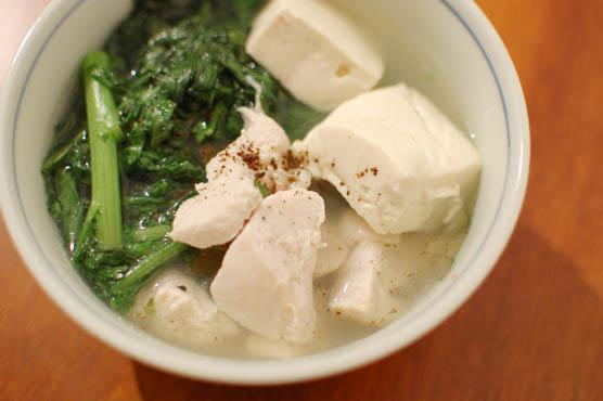 春菊たっぷり 鶏豆腐 三州屋 レシピ