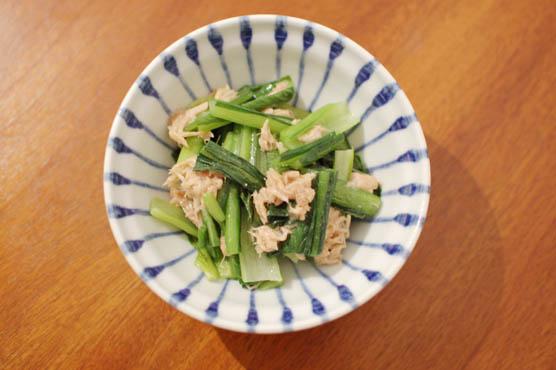 小松菜とツナのポン酢和え レシピ