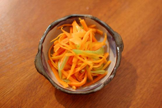 にんじんと白葱の塩炒め レシピ
