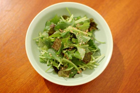 三つ葉と海苔のサラダ レシピ