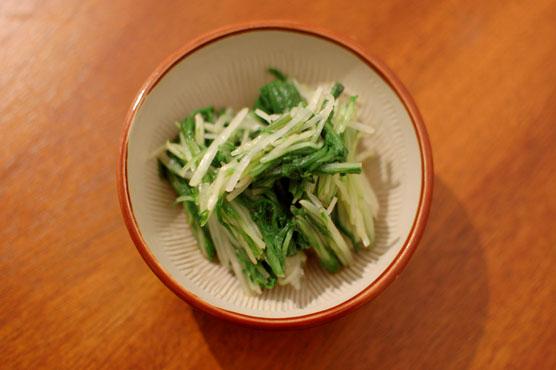水菜のからし和え レシピ
