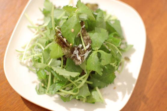 三つ葉としらすのサラダ