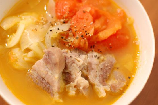 塩豚のトマト煮