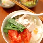 家飲み献立 3/23 具沢山 鶏出汁こんにゃく麺。