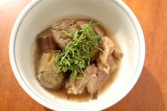 茄子と鶏もも肉の煮物