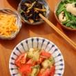 焼き茄子とトマトのサラダ献立