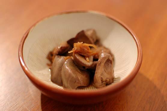鶏肝の生姜煮