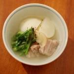 蕪と塩豚のしょうが煮