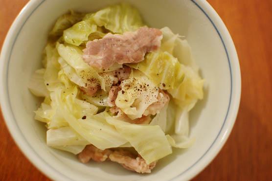 塩豚とキャベツの蒸し煮