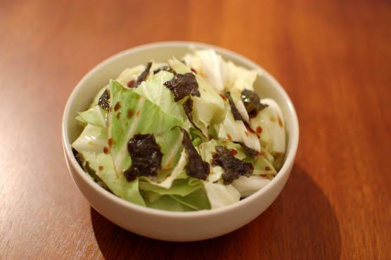 キャベツと海苔のサラダ