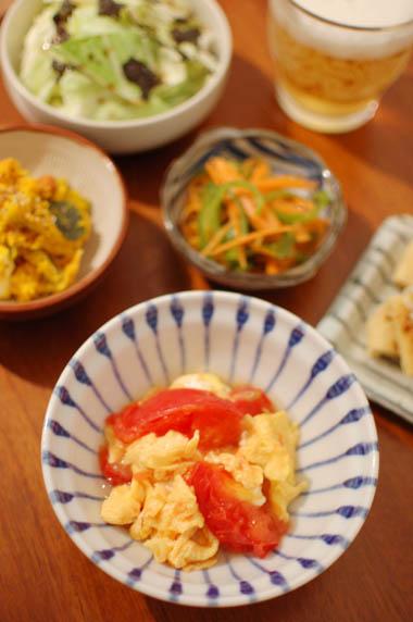 トマトの卵炒め献立