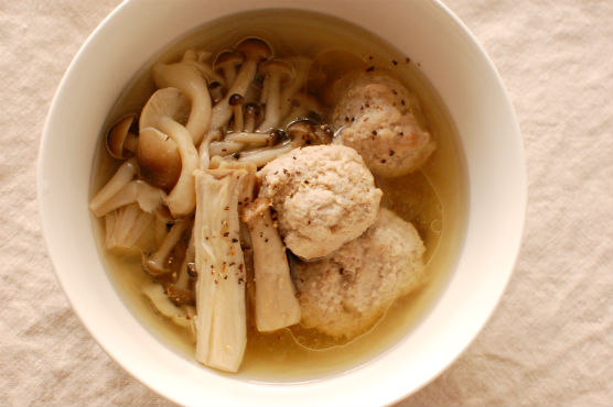 肉団子と茸の煮込み