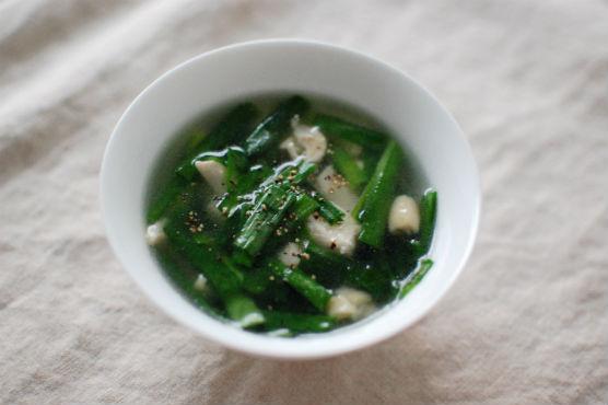 ニラのスープ