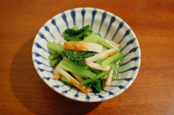 小松菜とちくわの辛子和え
