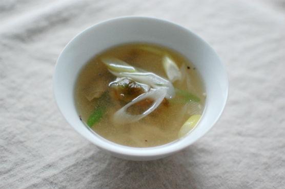 ザーサイとネギのスープ