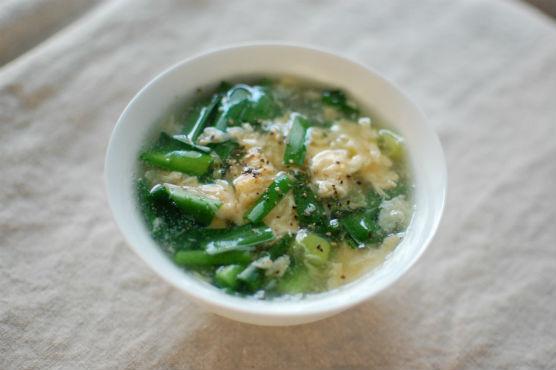 韮と卵のスープ