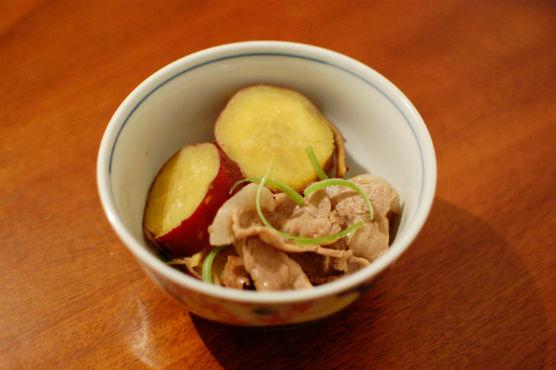 さつまいもと豚肉の生姜煮