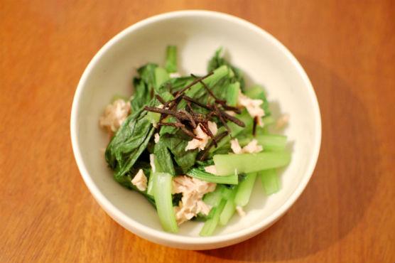 小松菜と塩昆布のサラダ