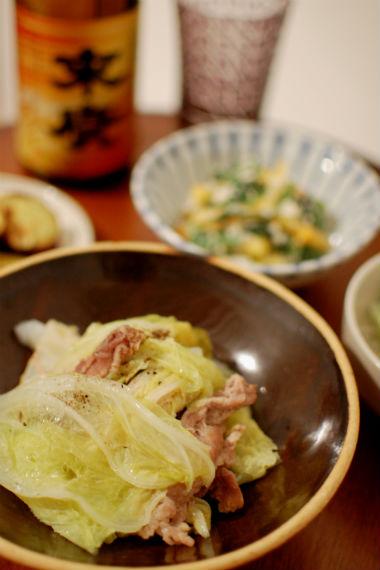 豚と白菜の重ね蒸し 献立
