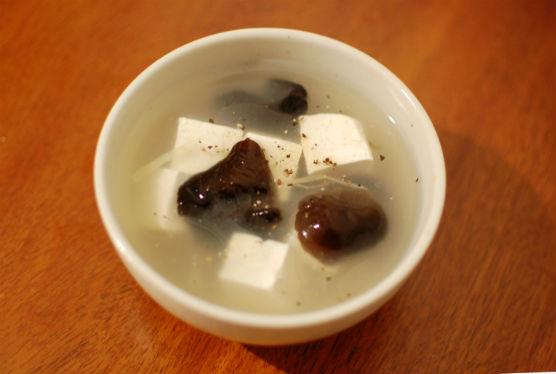 豆腐ときくらげの生姜スープ