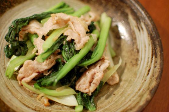 タアサイの炒め物