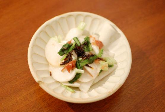 蕪の梅昆布サラダ