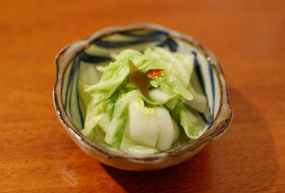 自家製白菜の漬物