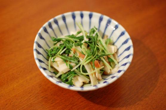 水菜とエリンギの梅醤油和え
