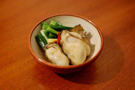 牡蠣のオイル漬け和風