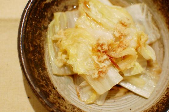 焼き白菜しょうがポン酢