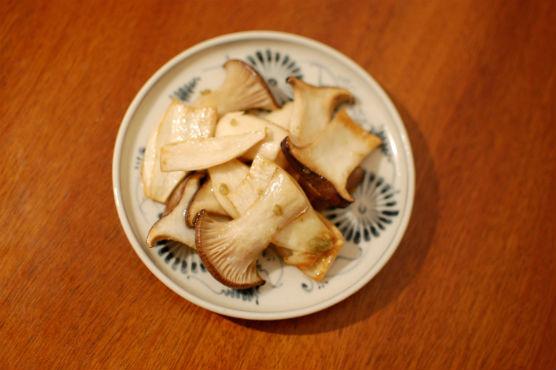 エリンギの柚子胡椒炒め